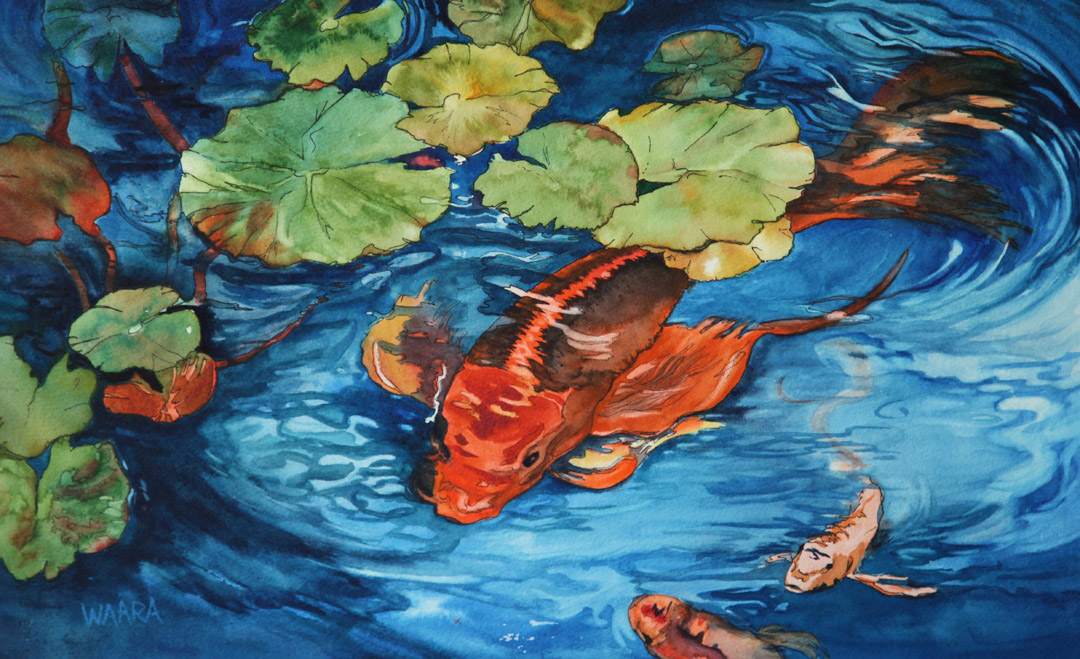 Don't Be Koi watercolor