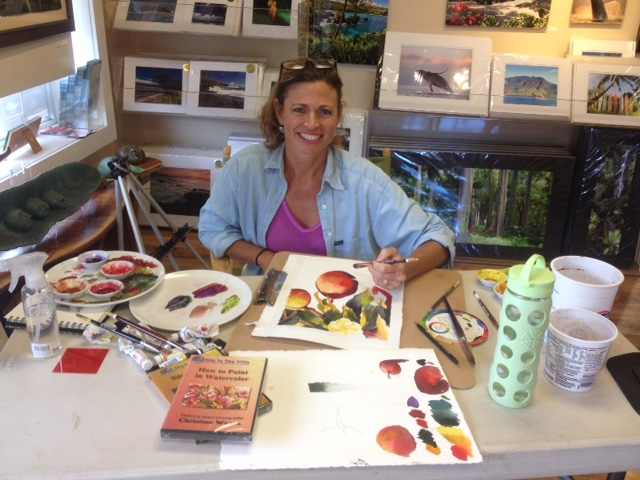 Christine Artist in Residence at Maui Hands in Paia in February
