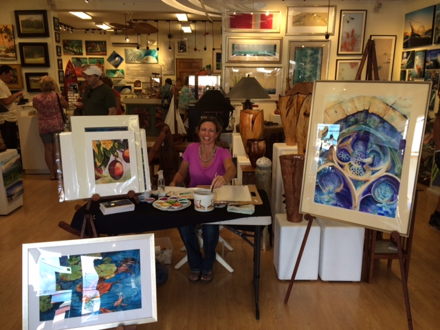 Christine Is Artist In Residence at Maui Hands Paia in April