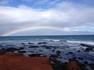 Beach and Rainbow - read the blog