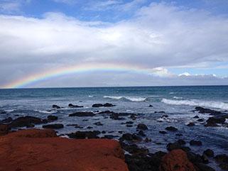 Beach and Rainbow - read the blog