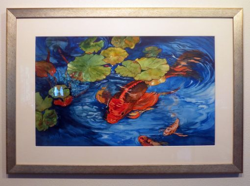 """Don't Be Koi"" Watercolor Painting Framed"
