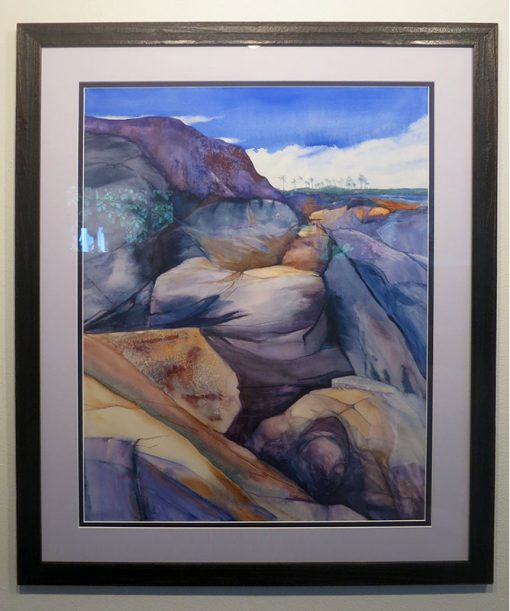 Kapalua Memories Framed Watercolor Painting