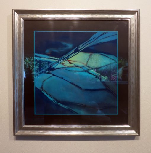 """Rock Abstract"" Pastel Painting Framed"