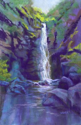 Alelele Falls Pastel