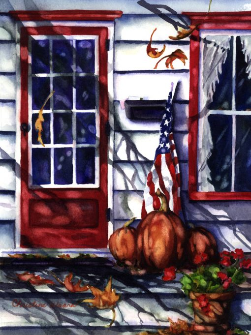 American Autumn Watercolor