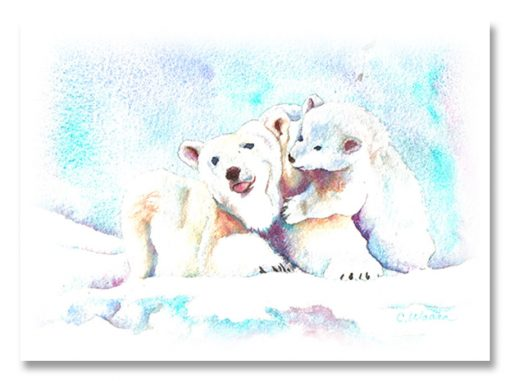 Christmas Bears Greeting Card (Polar Bears)