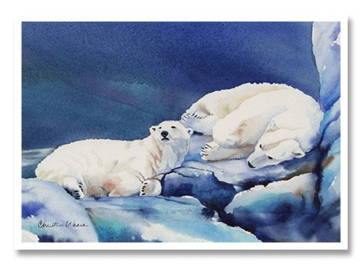 What's Up? Greeting Card (Polar Bears)