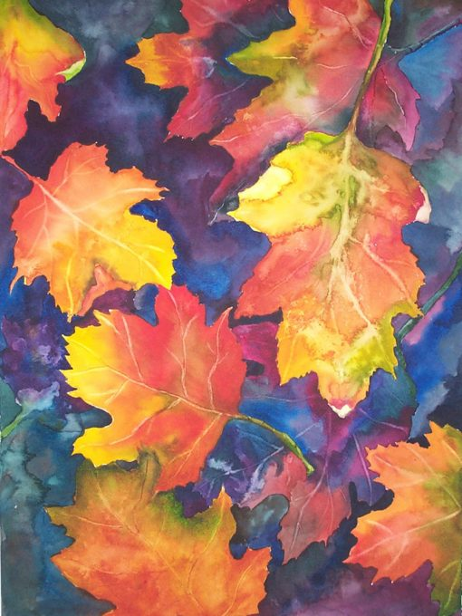 """:Autumn Leaves"" Watercolor Painting"