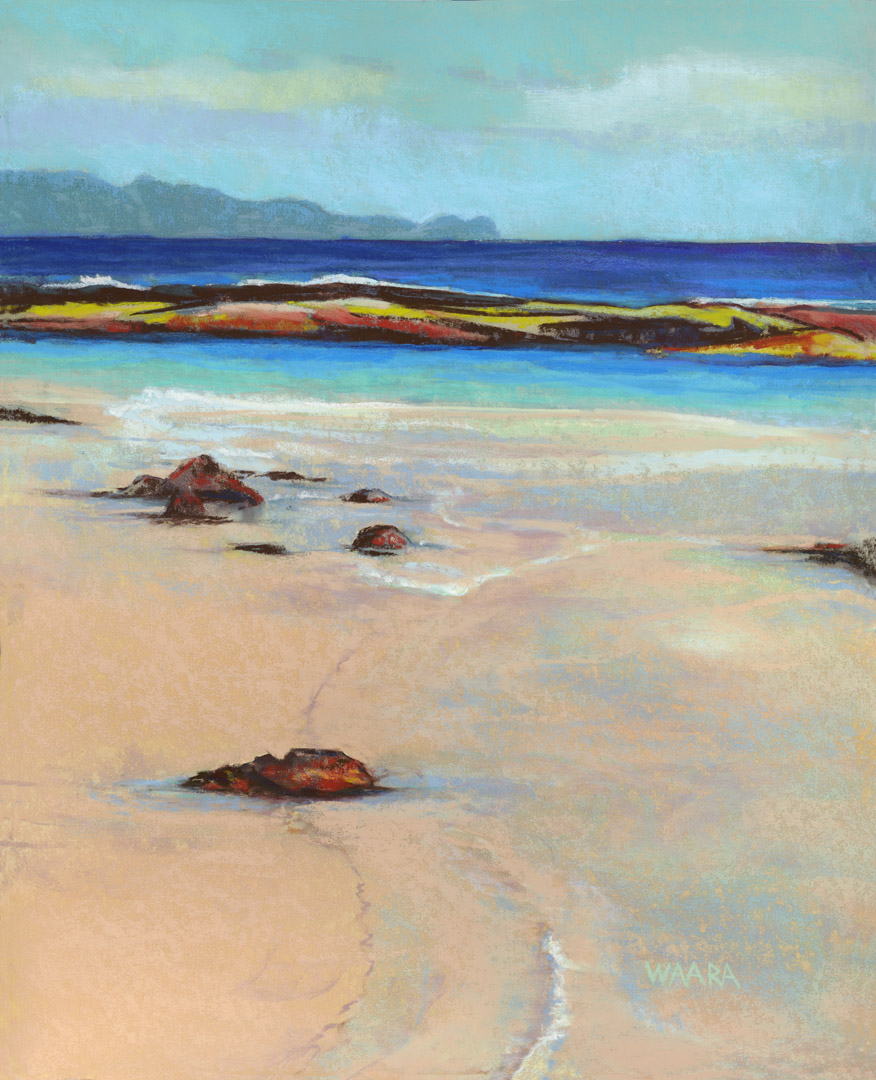 "Original pastel painting titled ""Sugar Beach"""