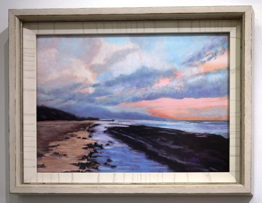 Frame pastel painting of low tide at Baby Beach in Maui