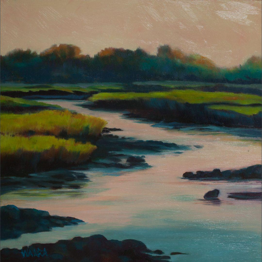 Kealia Quiet oil on board painting of Kealia nature preserve