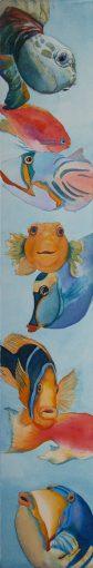"""""""Underwater Gems"""" original watercolor painting by Maui artist Christine Waara"""