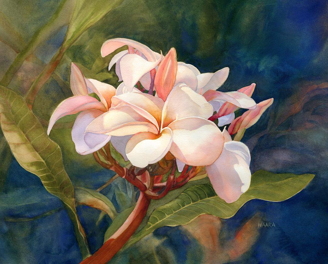 Blushing Beauties original watercolor by artist Christine Waara