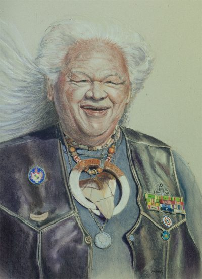"""Uncle Art"" soft pastel painting by artist Christine Waara"