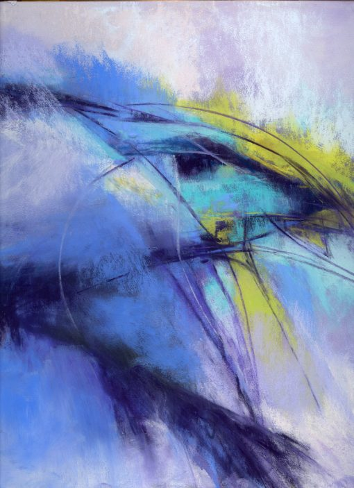 Abstract No. 149 original pastel painting by Maui artist Christine Waara