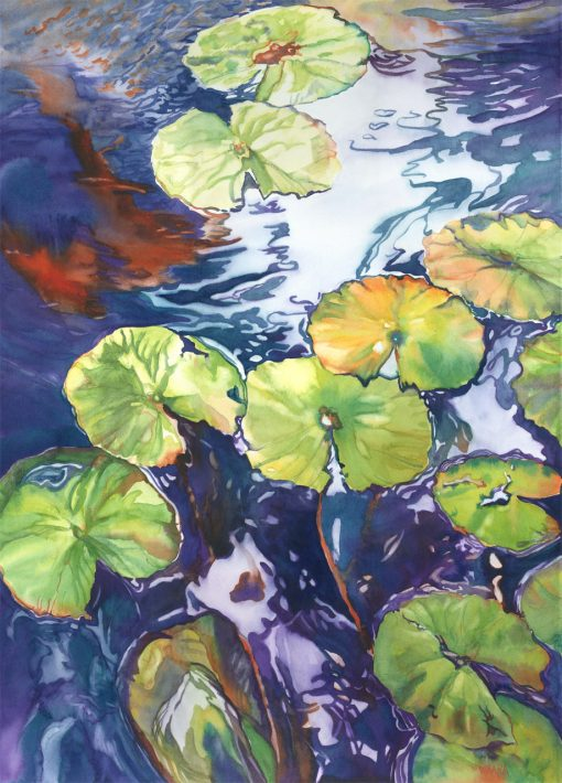 Beneath the Surface - original watercolor painting by Maui artist Christine Waara