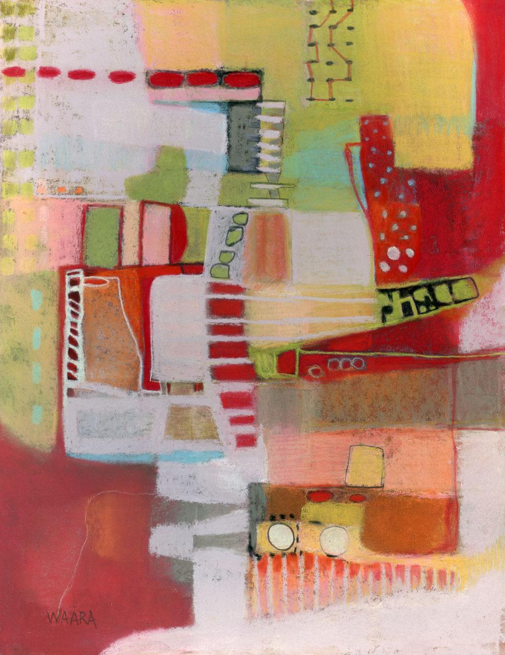 Original pastel abstract painting by Maui artist Christine Waara