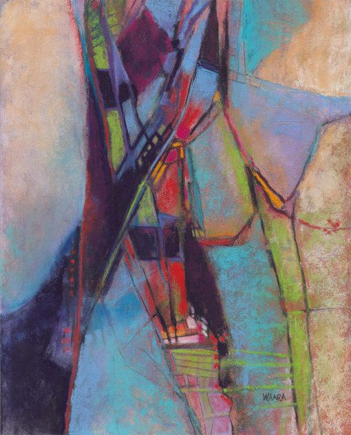 Abstract pastel painting