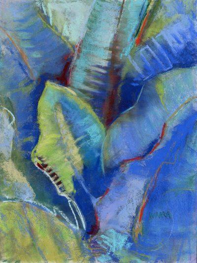"""""""Leaf Impressions"""" original pastel painting by Maui artist Christine Waara"""