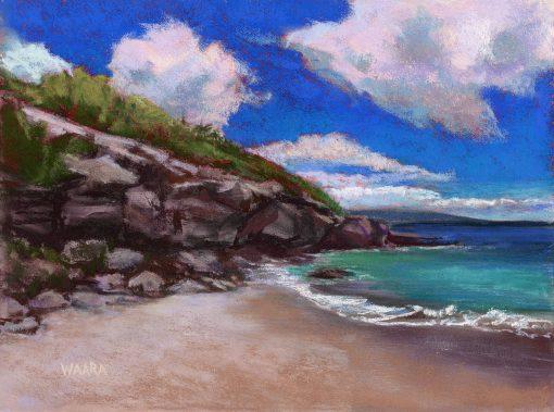 """Sandy Beaches of Maui"" original pastel painting by Maui artist Christine Waara"
