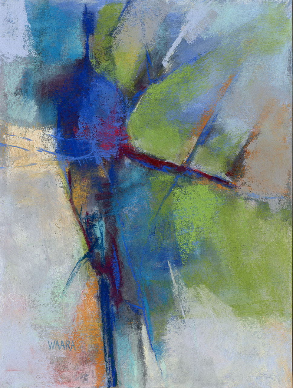 """The Juggler"" original abstract pastel painting by Maui artist Christine Waara"