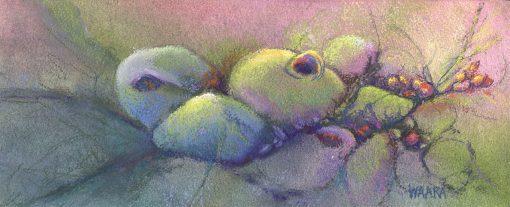 """Vessels"" original abstract pastel painting by Maui artist Christine Waara"