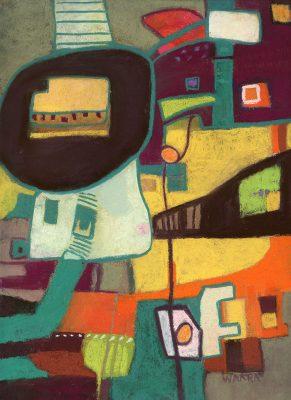 Original abstract soft pastel painting by Maui artist Christine Waara
